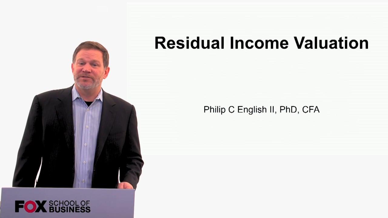 60146Residual Income Valuation