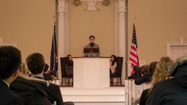 Millbrook Chapel Talk - Gabriel Diaz '18