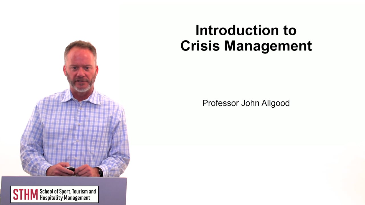 60135Introduction to Crisis Management