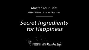 Secret Ingredients for Happiness