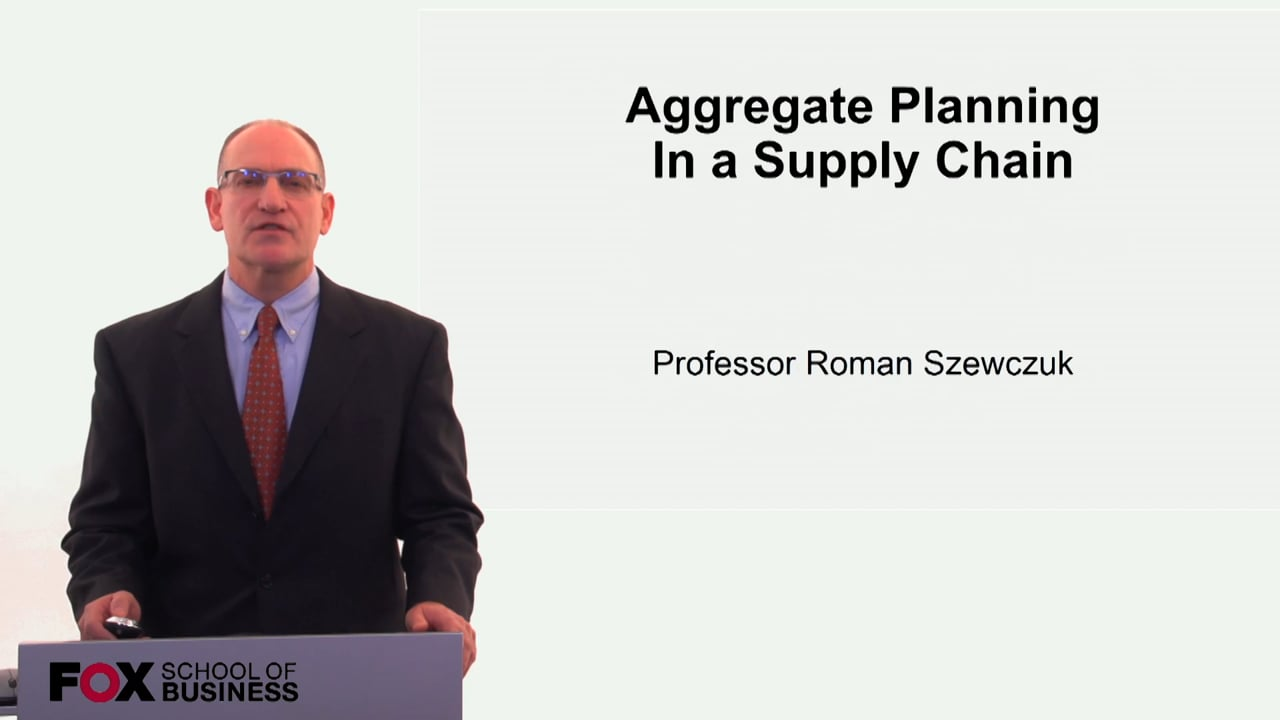 60263Aggregate Planning in a Supply Chain