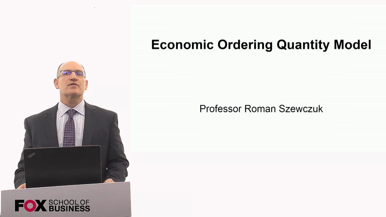 60269Economic Ordering Quantity Model