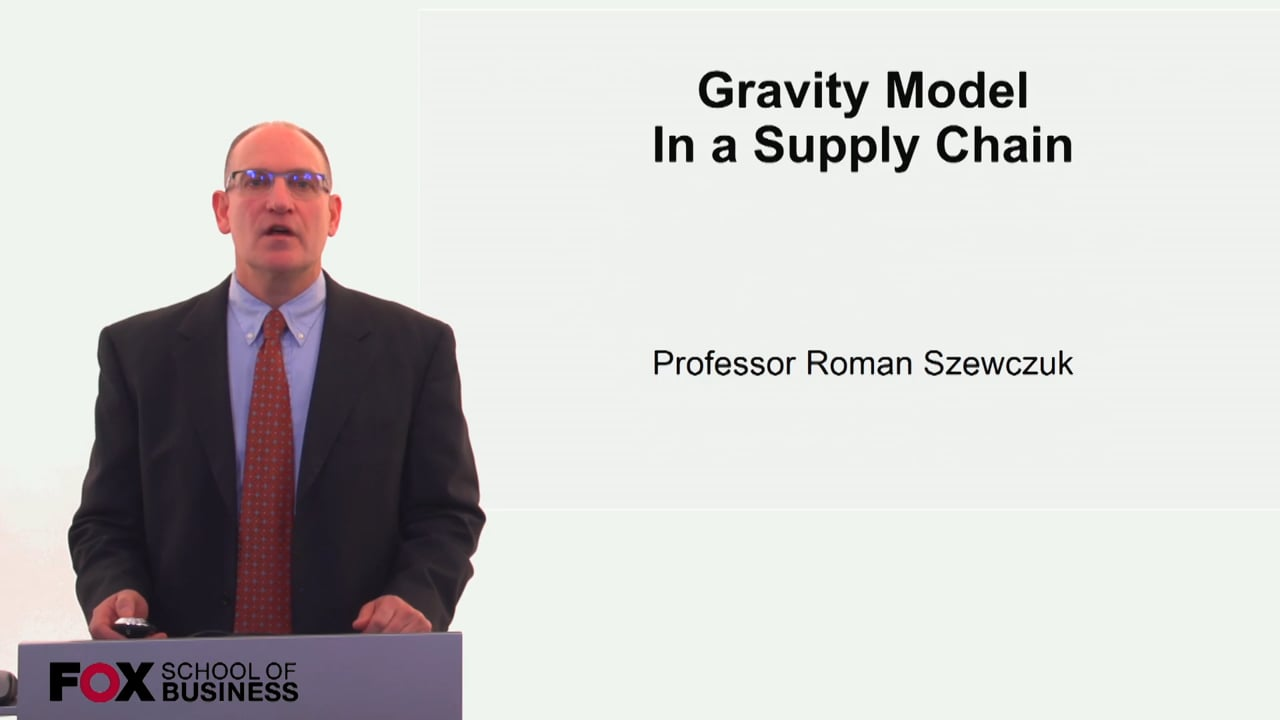 60266Gravity Model in a supply chain