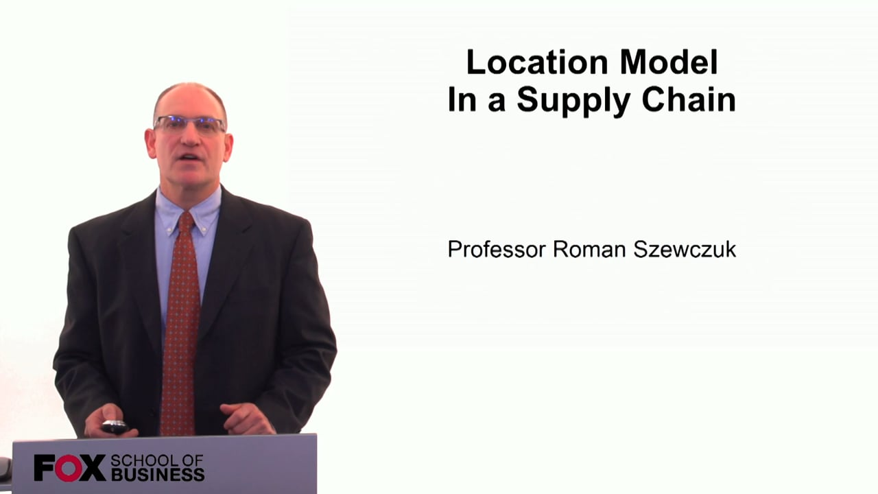 60265Location Model in a Supply Chain