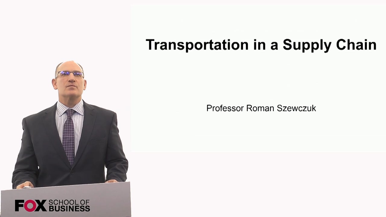 60272Transportation in a Supply Chain