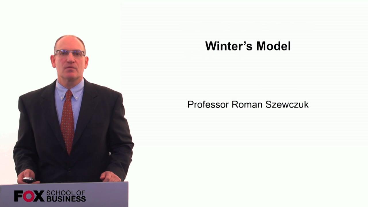 60268Winters Model