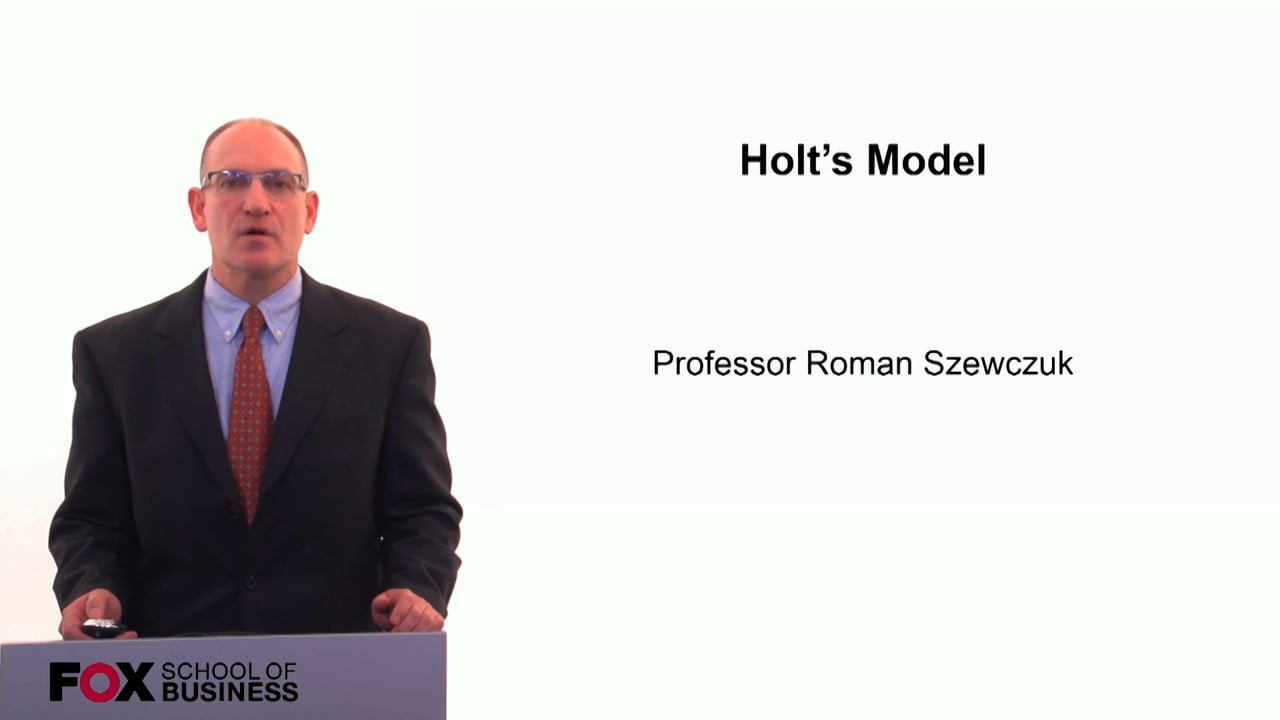 60267Holts Model