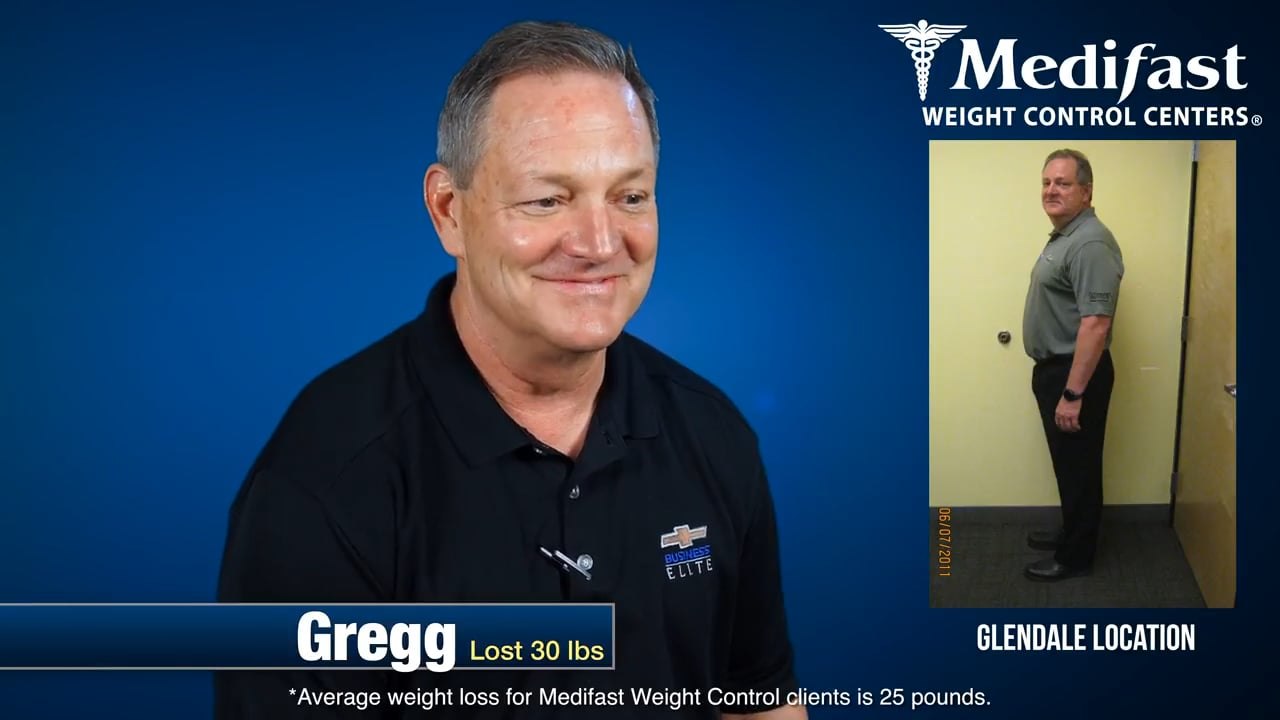 Gregg Lost 30 lbs at Medifast While Eating Out Every Night!