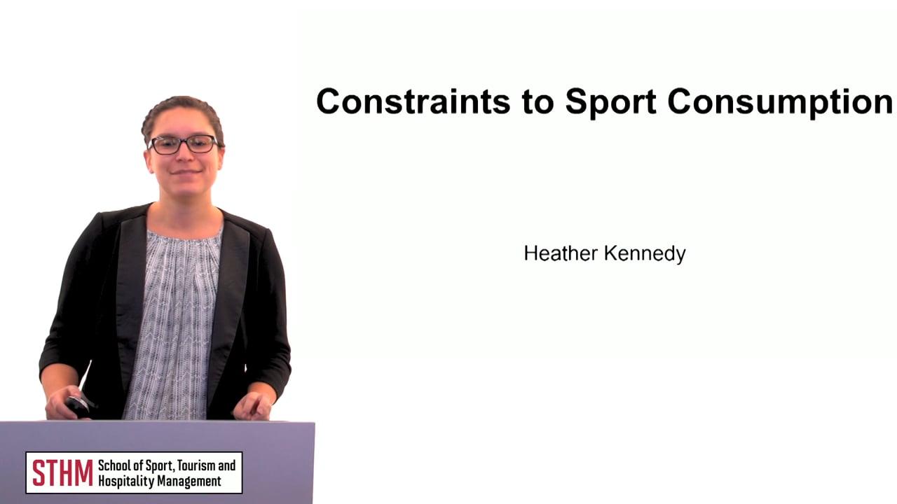 60163Constraints to Sport Consumption