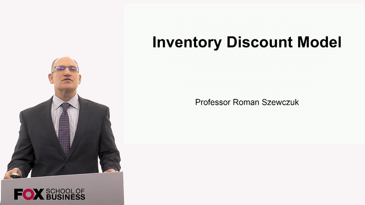 60270Inventory Discount Model