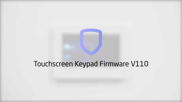 Graphic Touchscreen Keypad Firmware Update 110