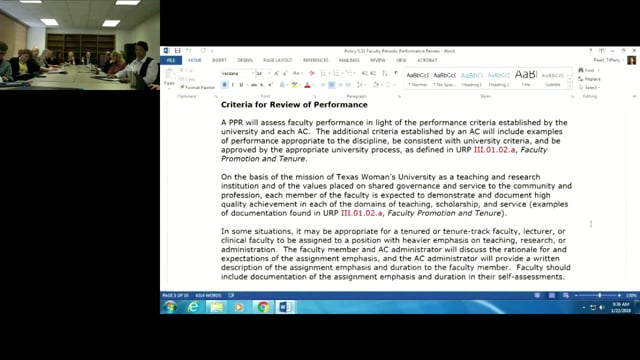 1-22-18  Faculty Performance Review Training 1
