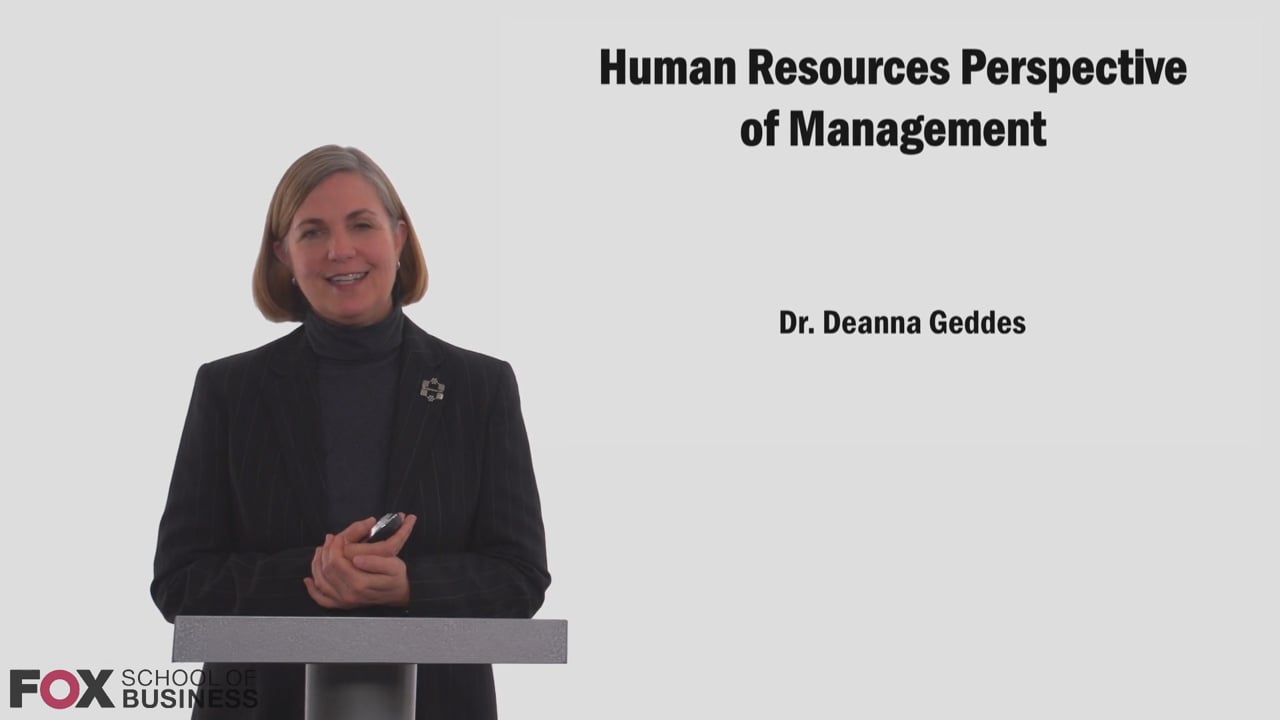 58753Human Resources Perspective of Management