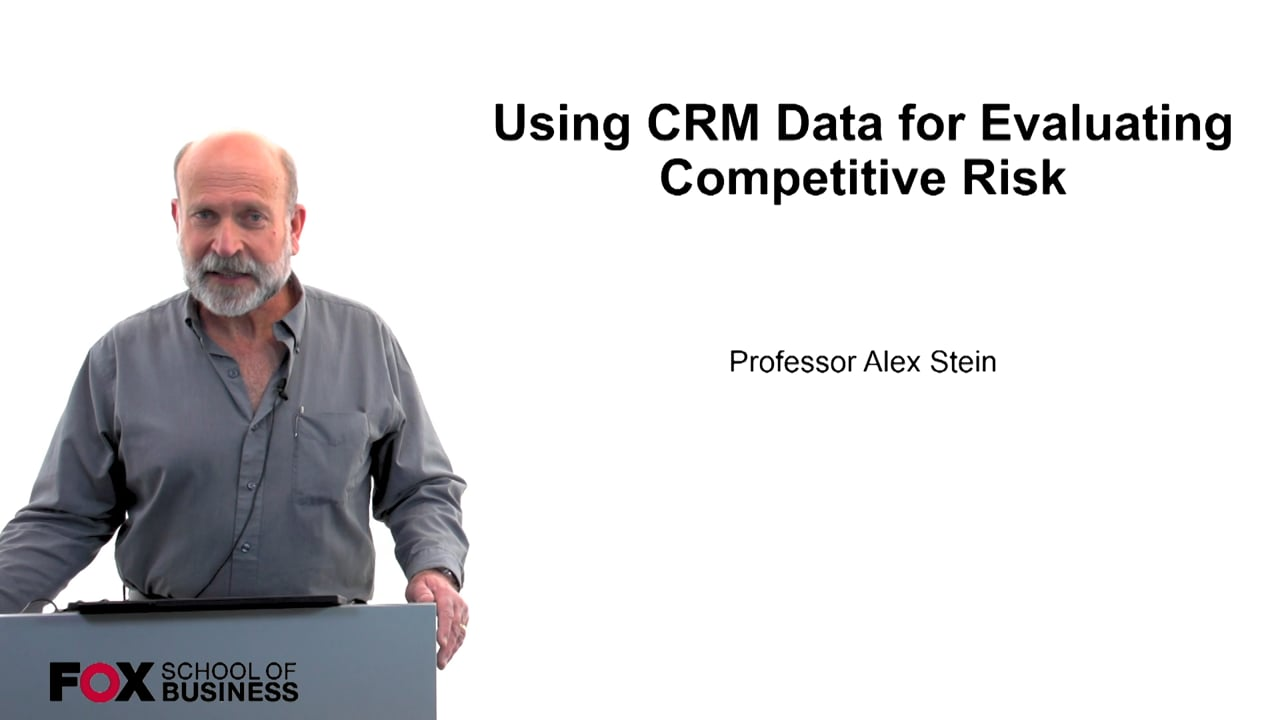 60221Using CRM Data for Evaluating Competitive Risk