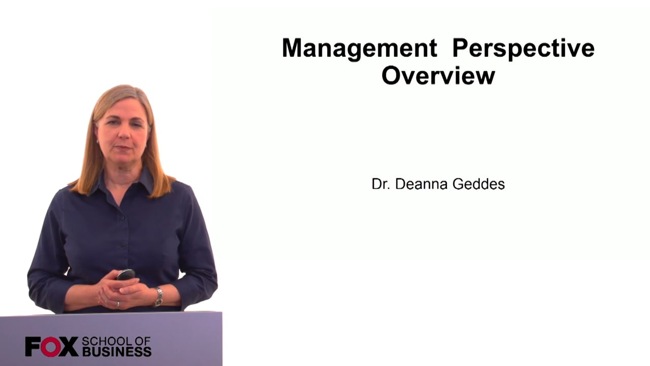 60182Management Perspective Overview