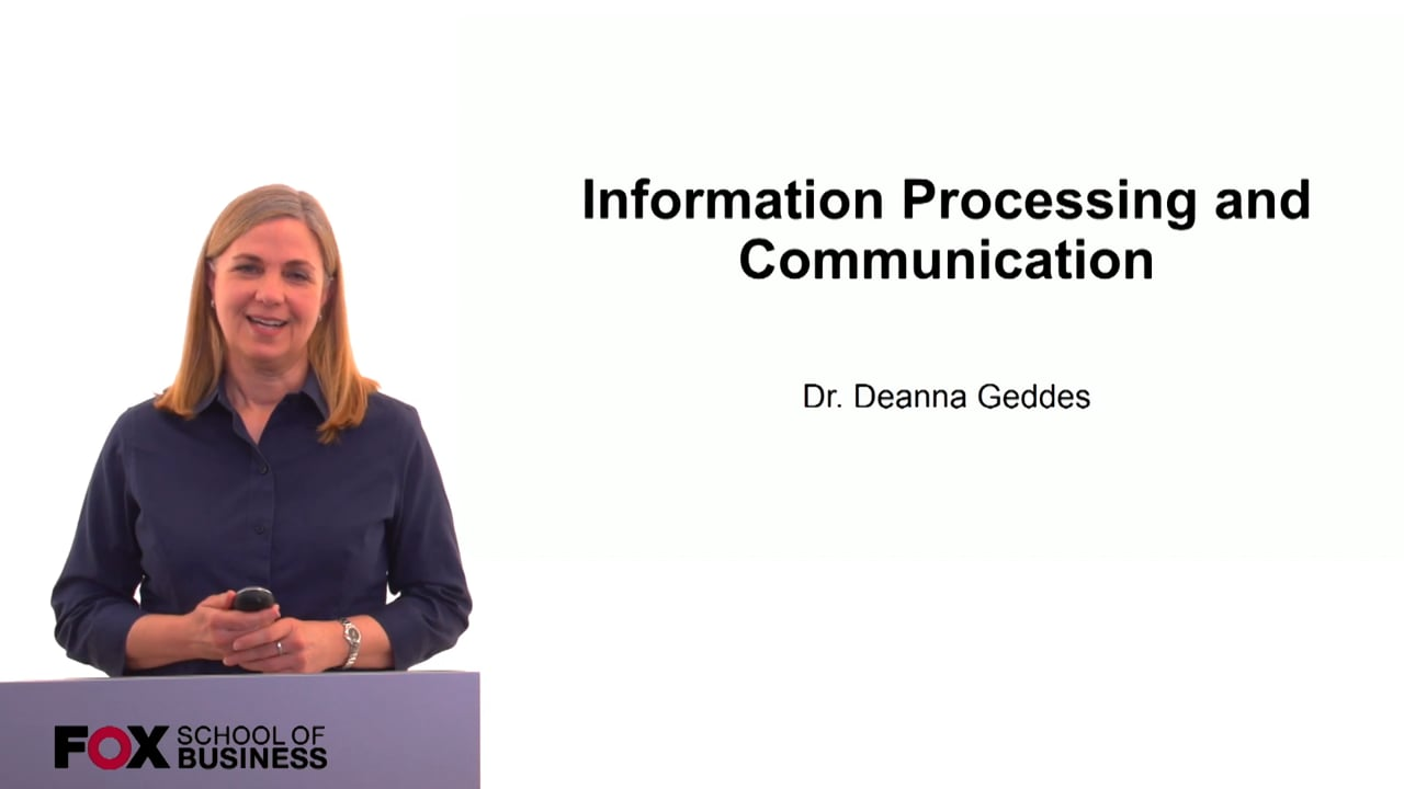 60181Information Processing and Communication
