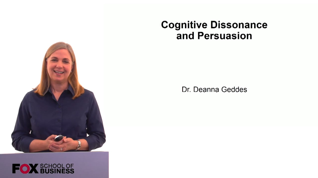 60180Cognitive Dissonance & Persuasion