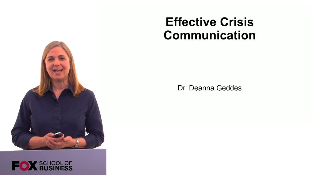 60196Effective Crisis Communications