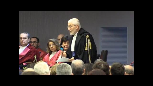 19/01/2018 Inaugurazione anno giudiziario 2018. L'intervento del Presidente Sergio Paparo