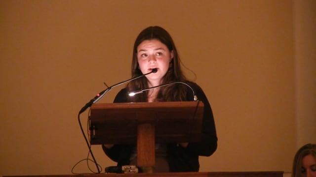 Millbrook Chapel Talk - Ava McCoy '18