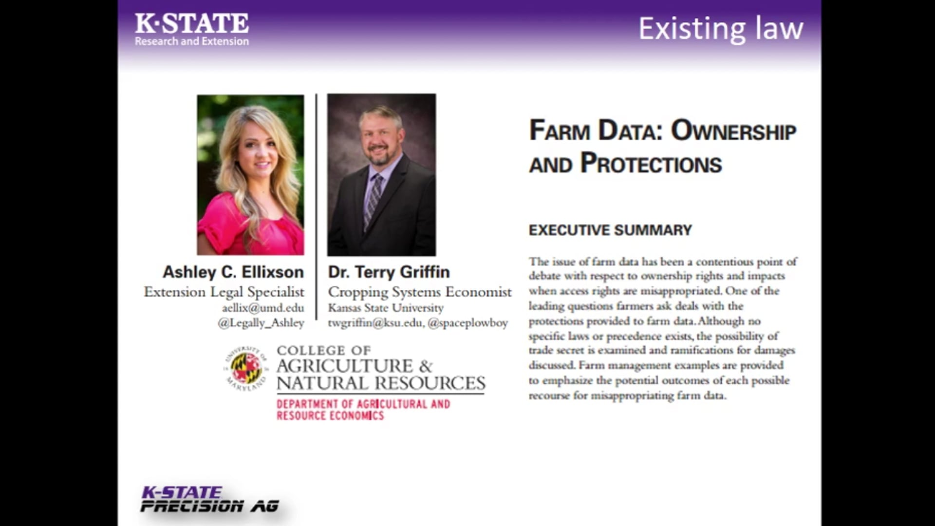 Big data implications for agriculture. Terry Griffin