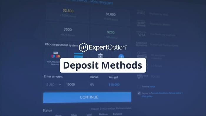ExpertOption Deposit Methods