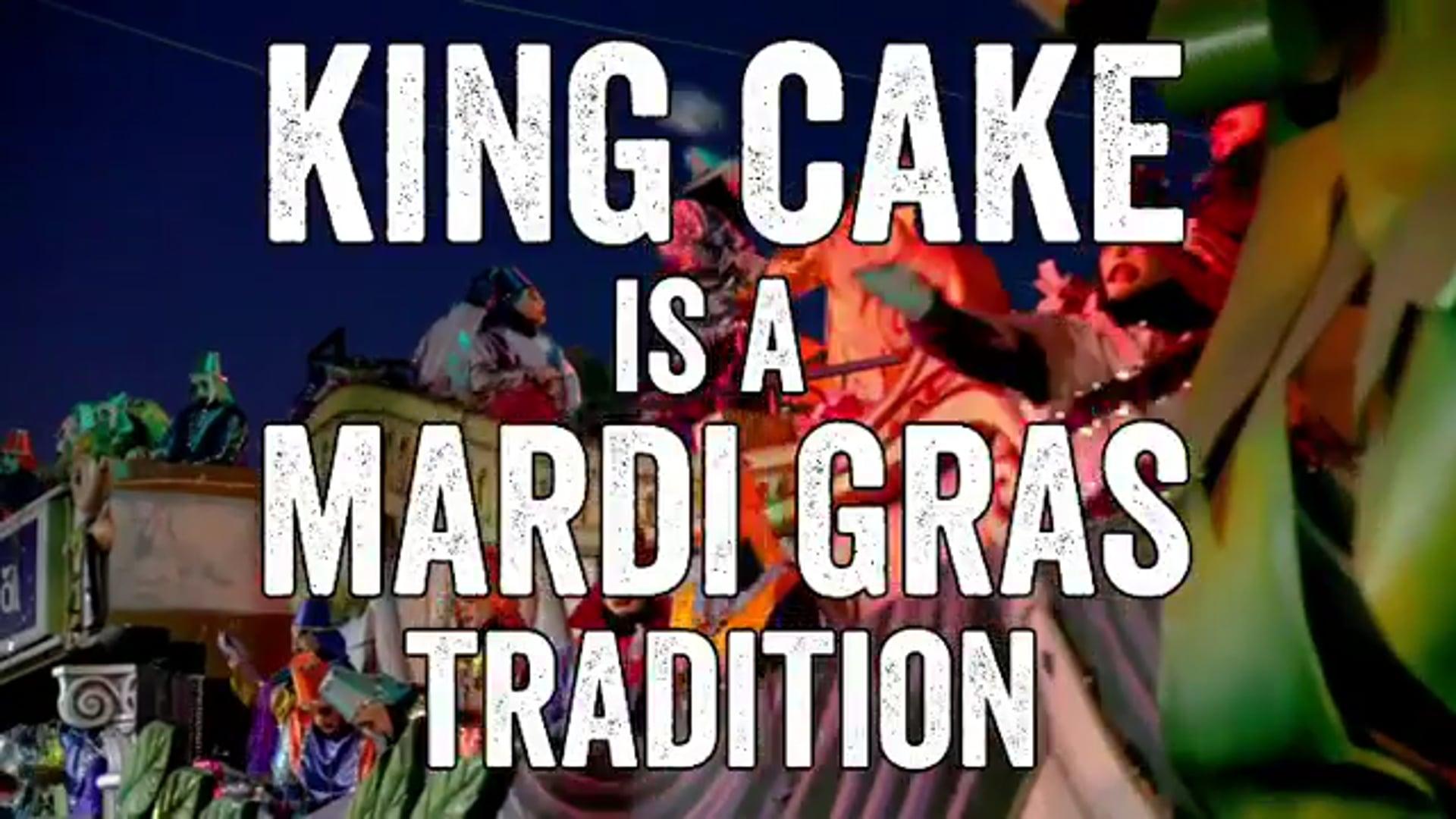 Advertising King Cake for Deciccos