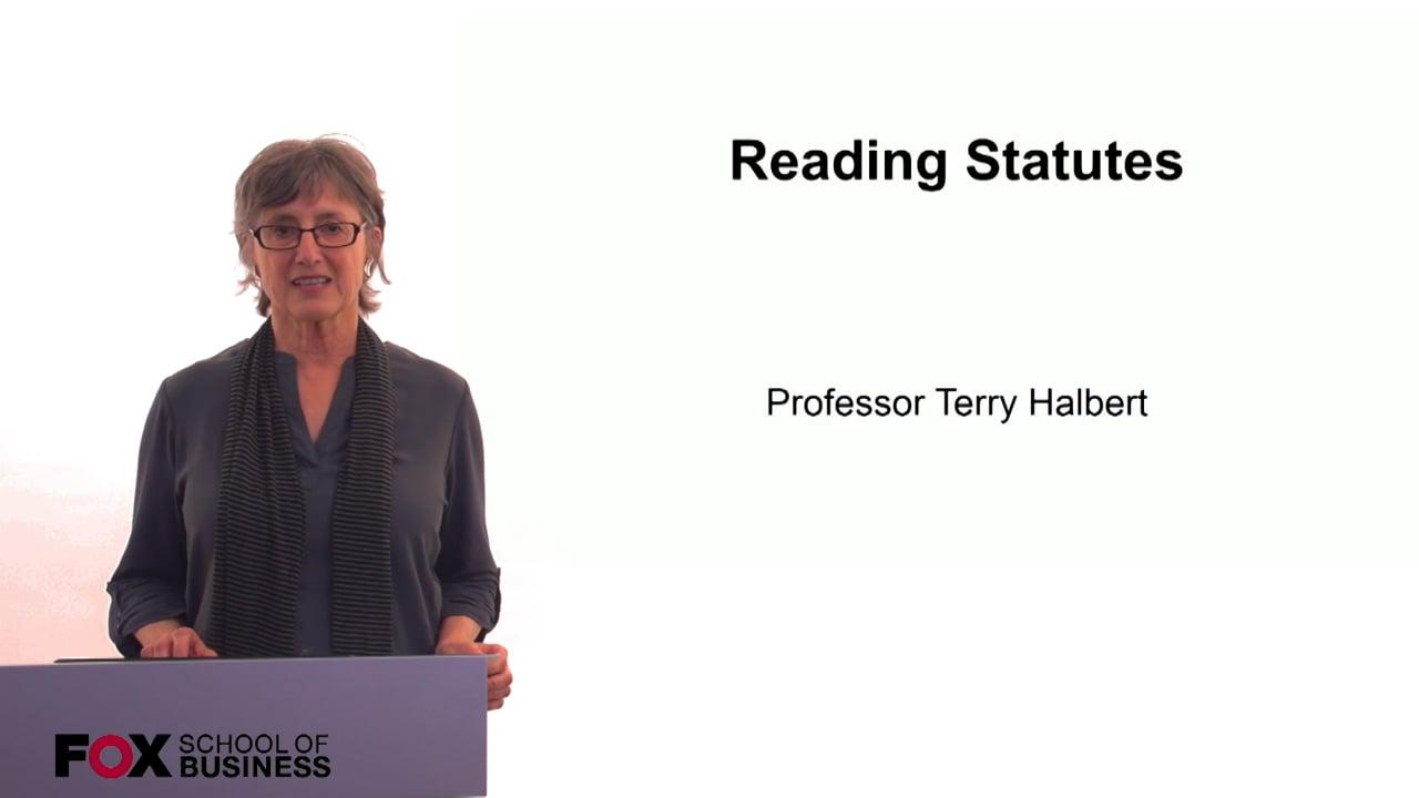60274Reading Statutes