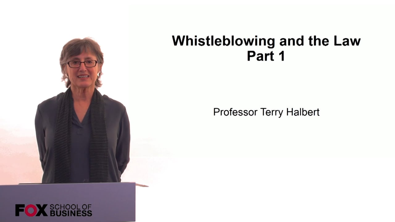 60275Whistleblowing and the Law Part 1