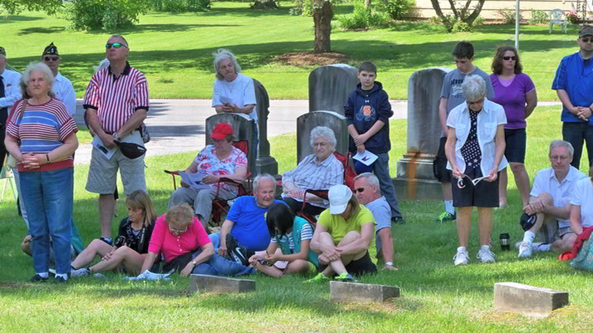 Jacob Stull Galentine 2014 Monument dedication at Rush Cemetery on memorial day 2014