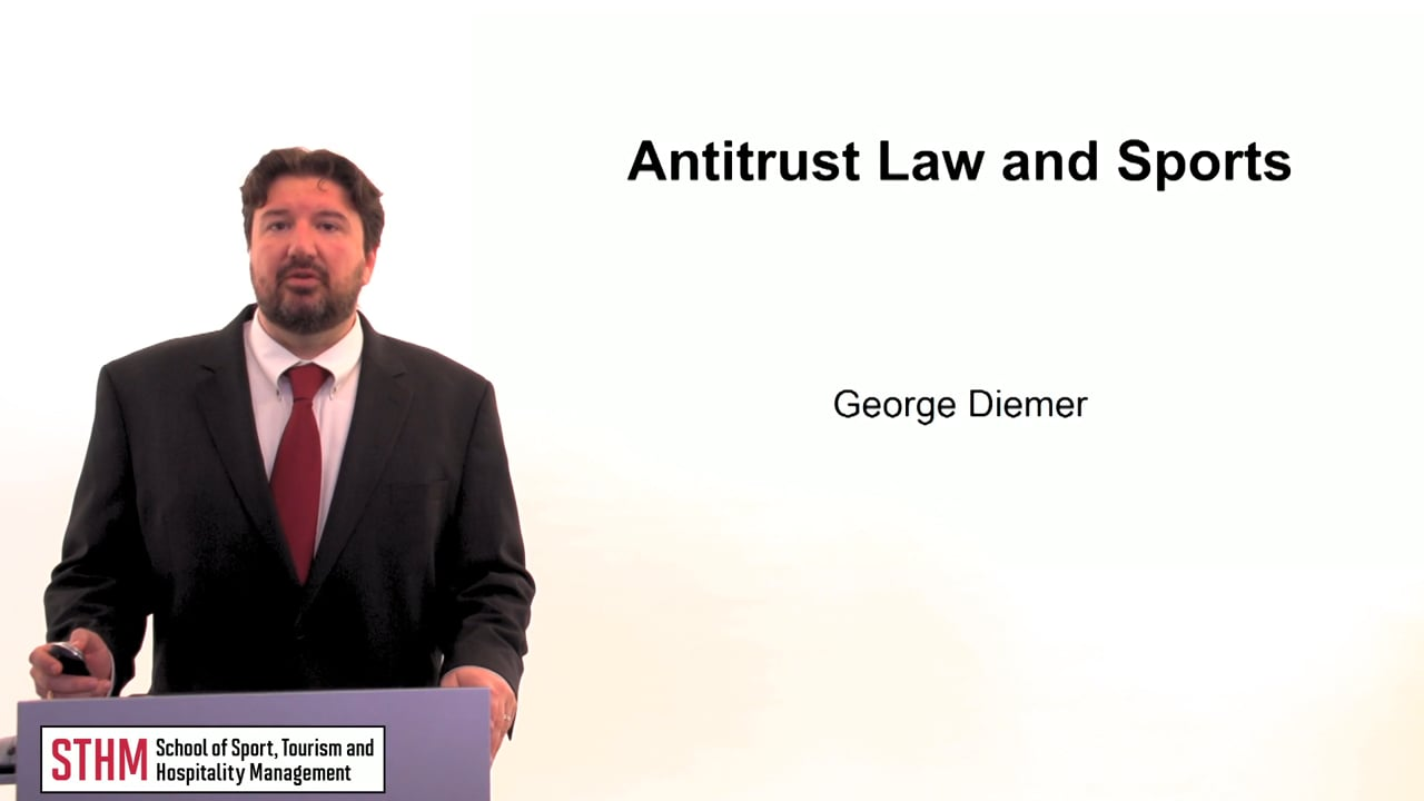 60290Antitrust Law and Sports