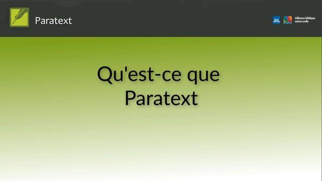 P8TC 0.1 Qu'est-ce Paratext (fr)