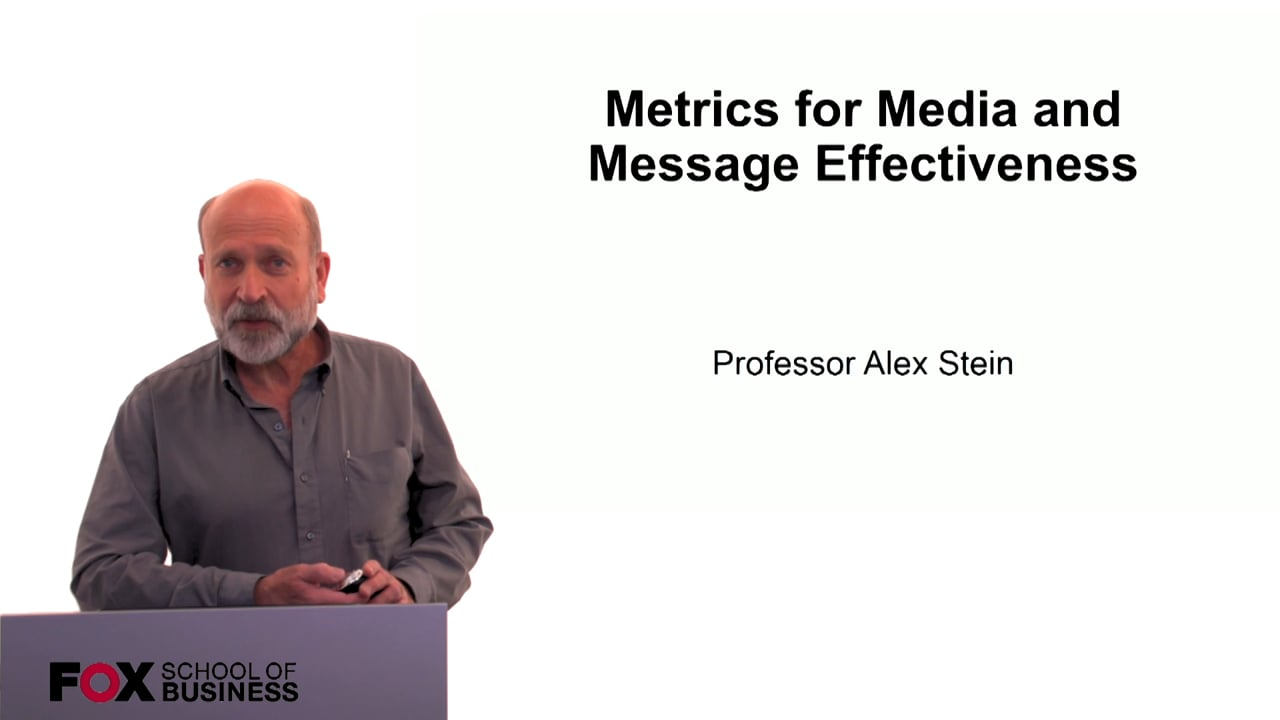 60222Metrics for Media and Message Effectiveness