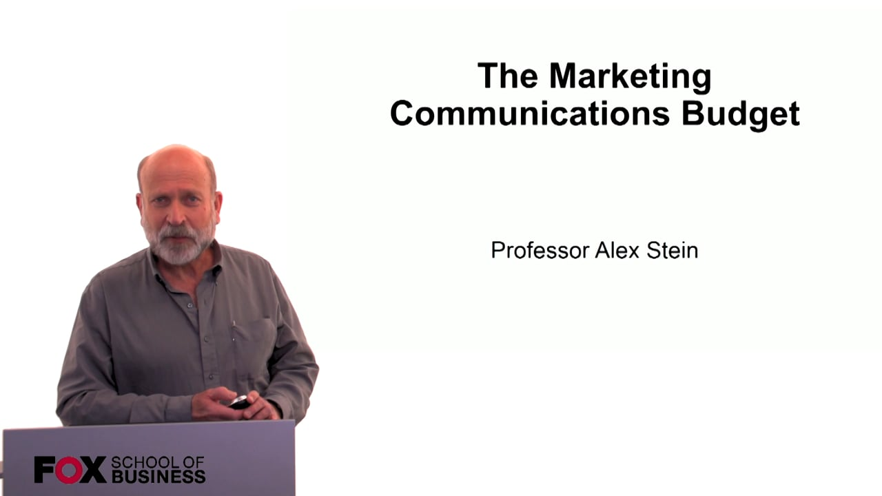 60223The Marketing Communications Budget