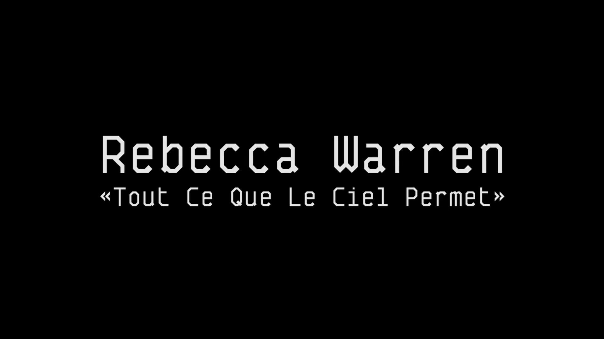 """Portrait of an artist - Rebecca Warren """"Tout ce que le ciel permet"""""""