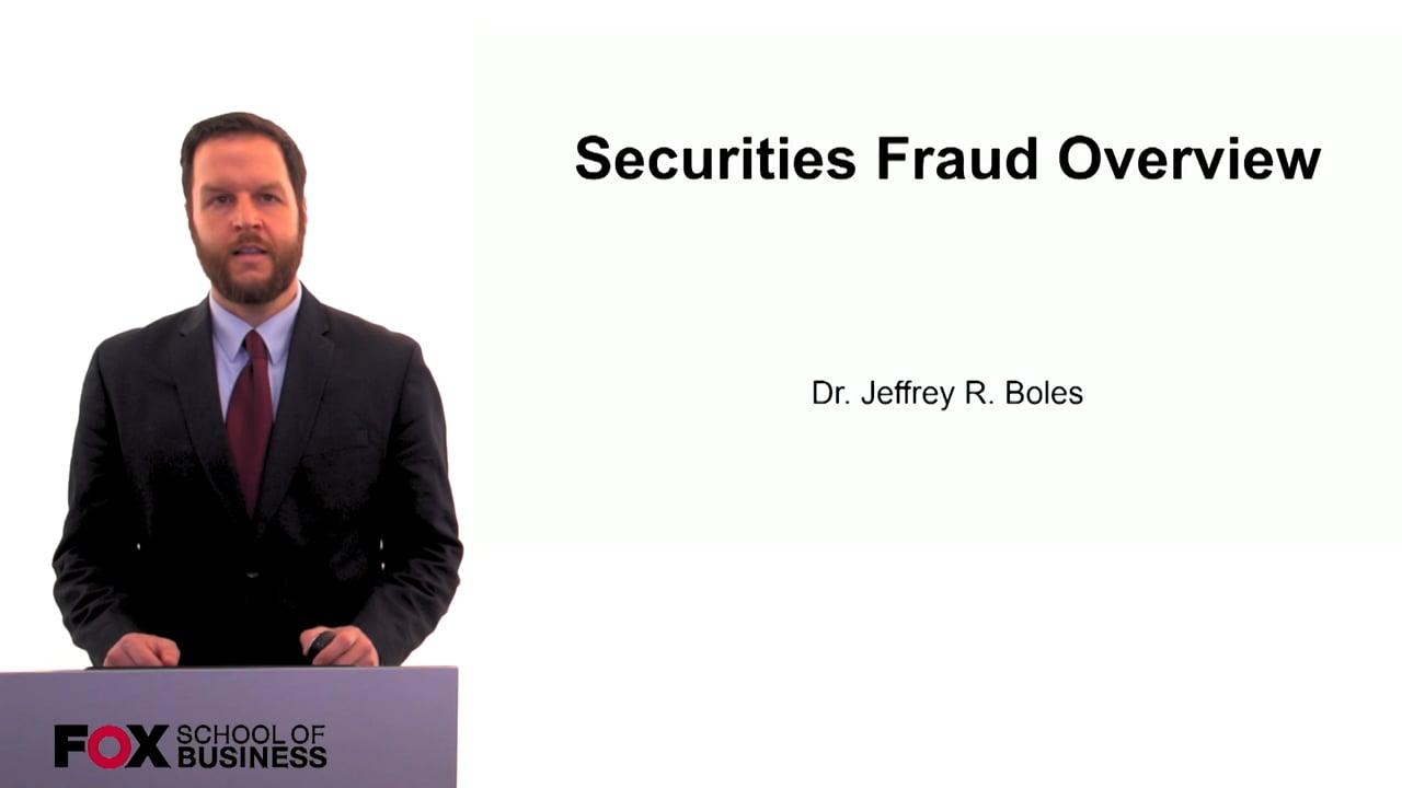 60286Securities Fraud Overview