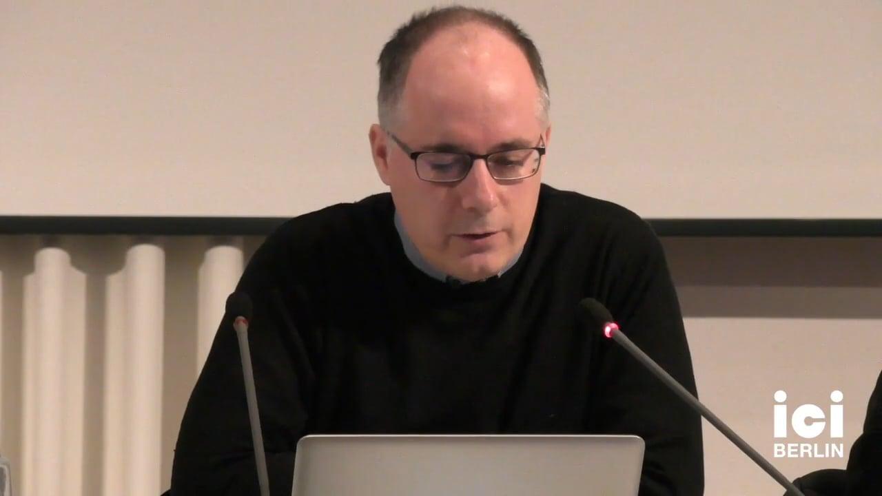 Talk by Antonio Somaini