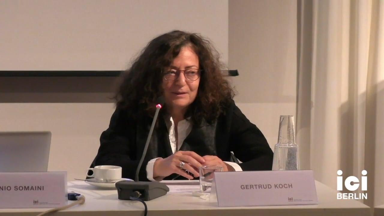 Talk by Gertrud Koch