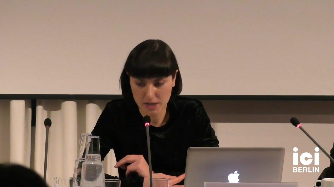 Talk by Elena Vogman