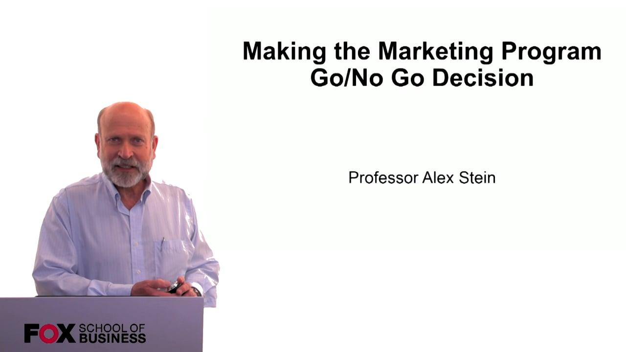 60297Making the Marketing Program Go/No Go Decision
