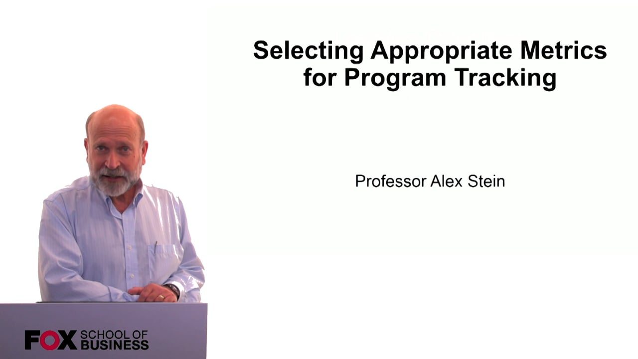 60299Selecting Appropriate Metrics for Program Tracking
