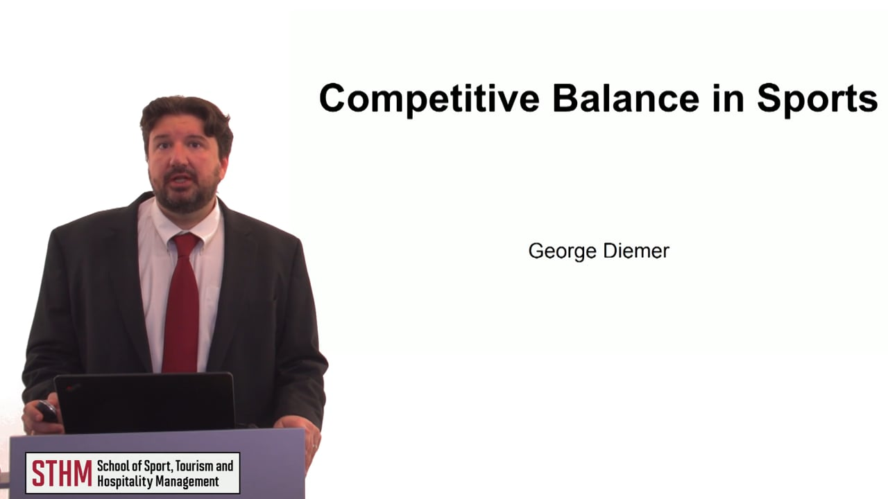 60292Competitive Balance in Sports
