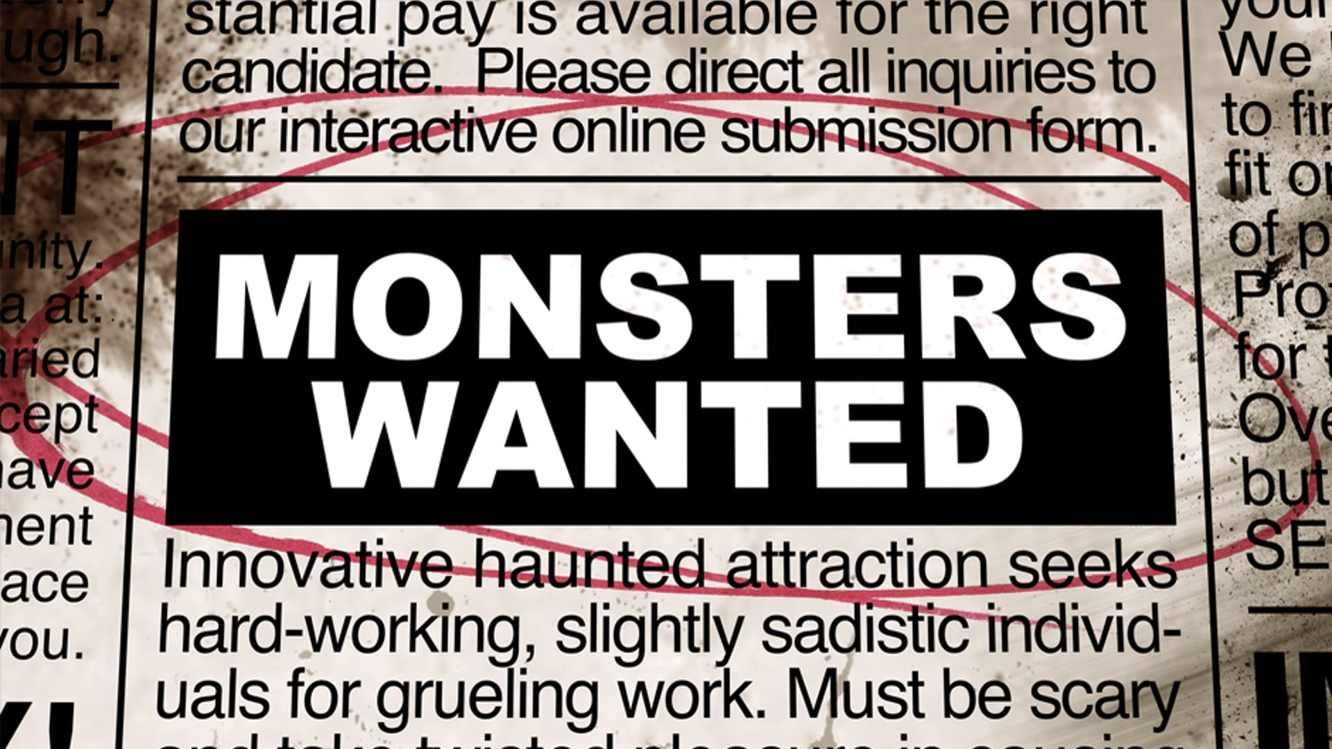 Monsters Wanted Trailer