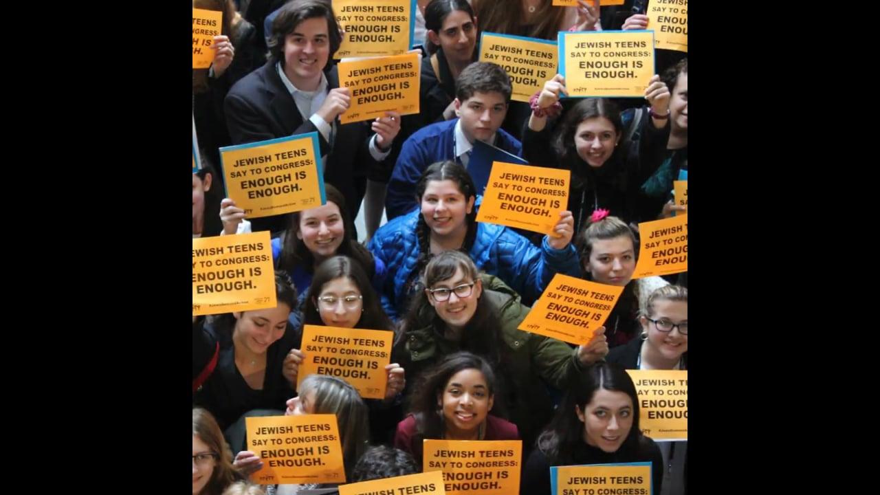 NFTY teens demand an end to gun violence