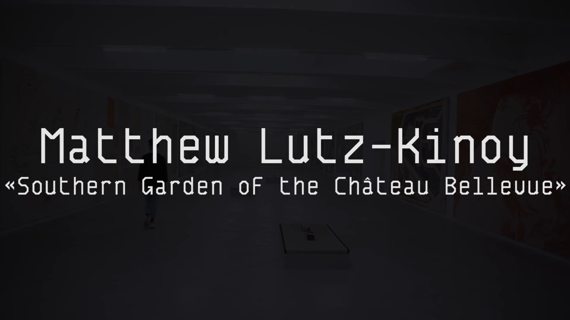 Portrait of an artist :  Matthew Lutz-Kinoy