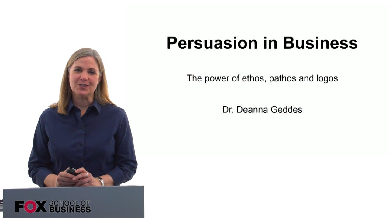 60168Persuasion in Business
