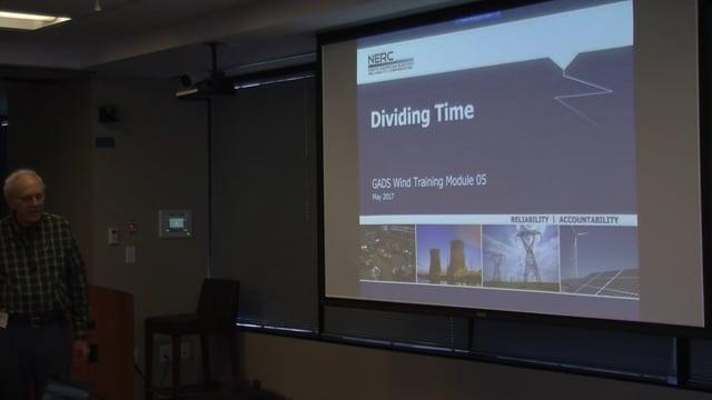 GADS Wind Module 05: Dividing Time (22m 20s)