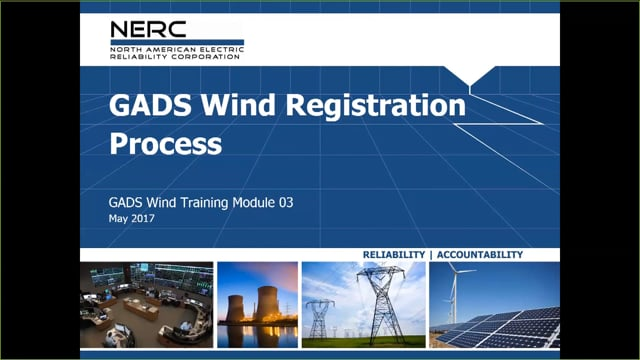 GADS Wind Module 03: Registration Process (18m 38s)