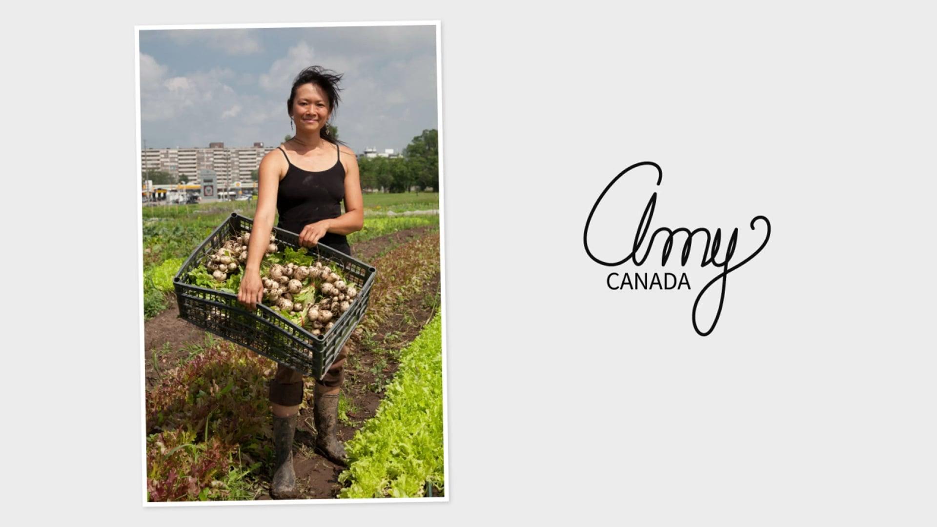 Amy, agricultrice urbaine à Toronto