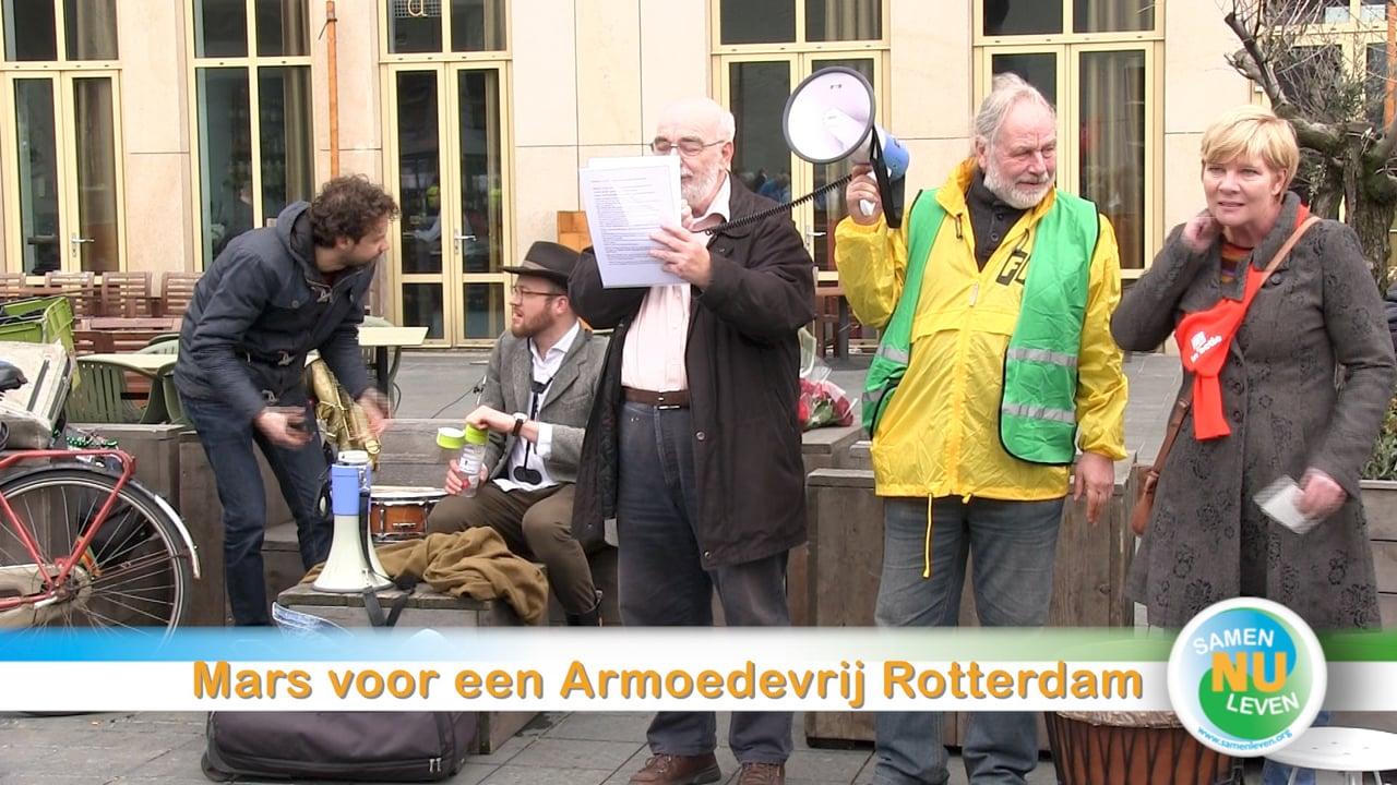 Mars voor een armoedevrij Rotterdam